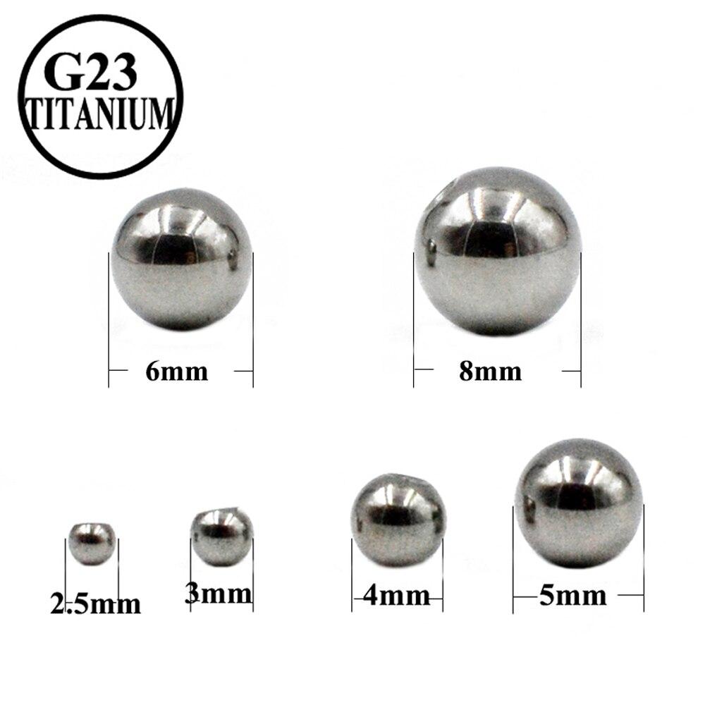 5 шт./лот G23 титановый шарик для пирсинга губ, бровей, язычка, ниппель, серьги, аксессуары для пирсинга тела, ювелирные изделия, винтовые шарик...