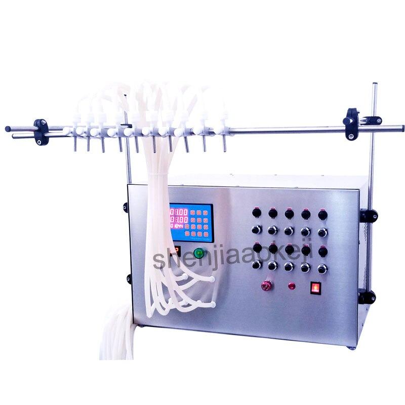 In Acciaio Inox CNC Macchine Per il Riempimento di Liquido bevande Elettrici macchina di riempimento con 10 ugelli di riempimento Collutorio 4000 ml/min 1 pzIn Acciaio Inox CNC Macchine Per il Riempimento di Liquido bevande Elettrici macchina di riempimento con 10 ugelli di riempimento Collutorio 4000 ml/min 1 pz