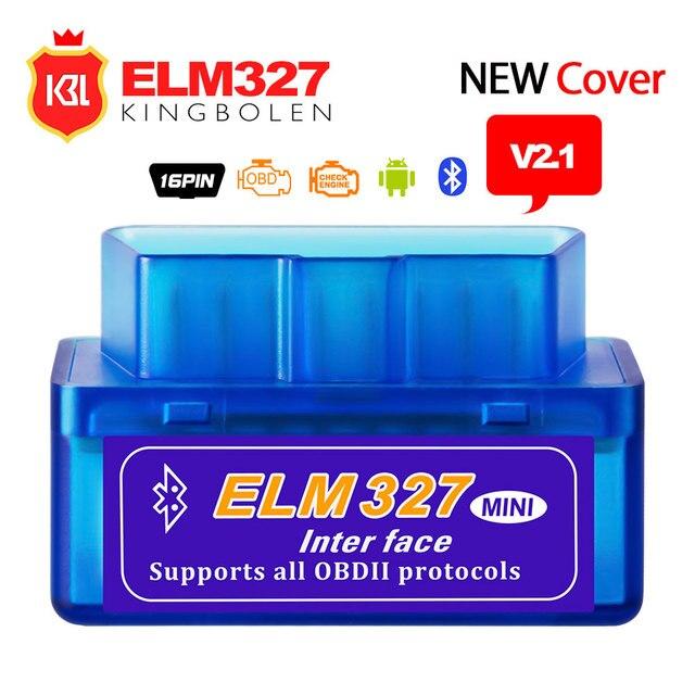 Super MINI ELM327 V2.1 Bluetooth obd2 OBD 2 Code Reader Work on Android/PC Diagnostic Tool ELM 327 V2.1 Support OBDII Protocols