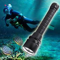 LED Diving Flashlight 22000lums LED Torch 5*T6 Scuba Dive Torch UnderWater 220m Depth Waterproof Led Flashlights Lantern light