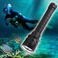 LED Tauchen Taschenlampe 22000 lums LED Taschenlampe 5 * T6 Scuba Dive Taschenlampe Unterwasser 220 m Tiefe Wasserdichte Led Taschenlampen laterne licht