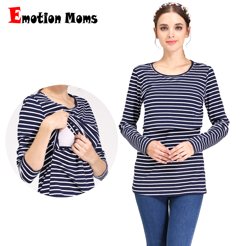 Emotion Moms New Autumn Maternity Clothes Allattamento al seno Top Nursing Tops vestiti gravidanza per donne incinte T-shirt maternità