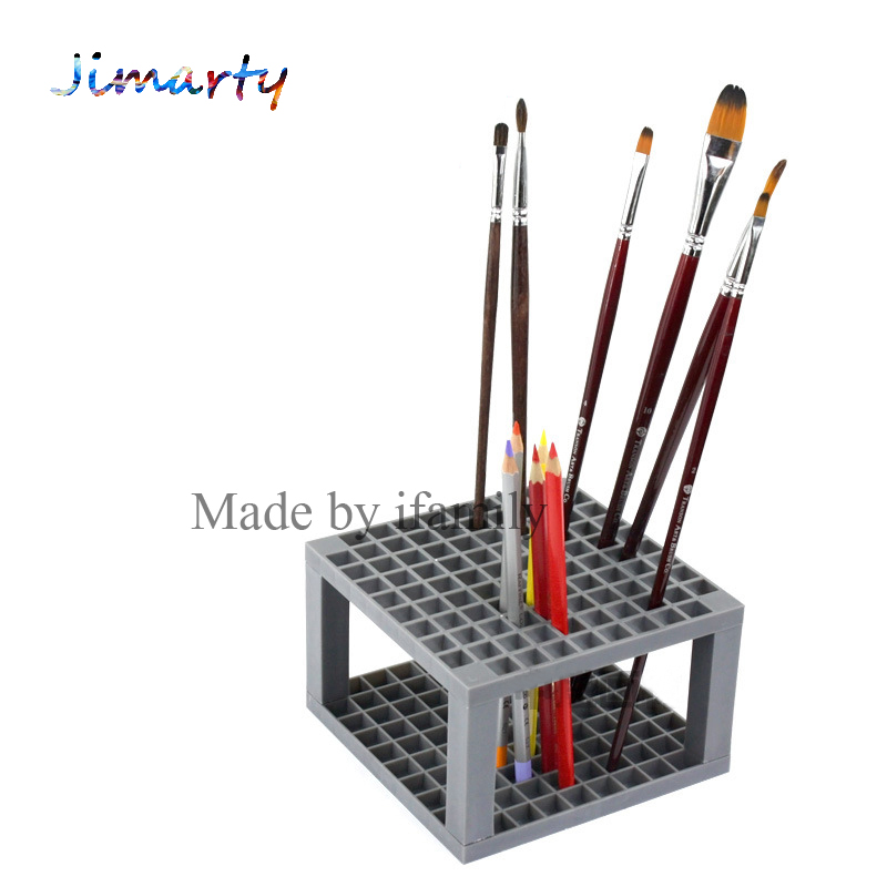 1pc 96grid bag pen holder paint brush holder watercolor oil acrylic painting tool pencil case stationary art easel container allen roth brinkley handsome oil rubbed bronze metal toothbrush holder