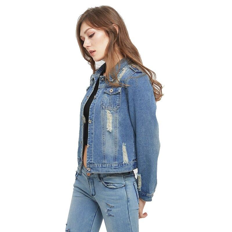 7906dd3c054 VooBuyLa Brand Plus Size 5XL 6XL Oversize Denim Jacket Women 2018 Spring  Slim Cotton Light Washed Long Sleeve Jeans Jacket Coats-in Basic Jackets  from ...