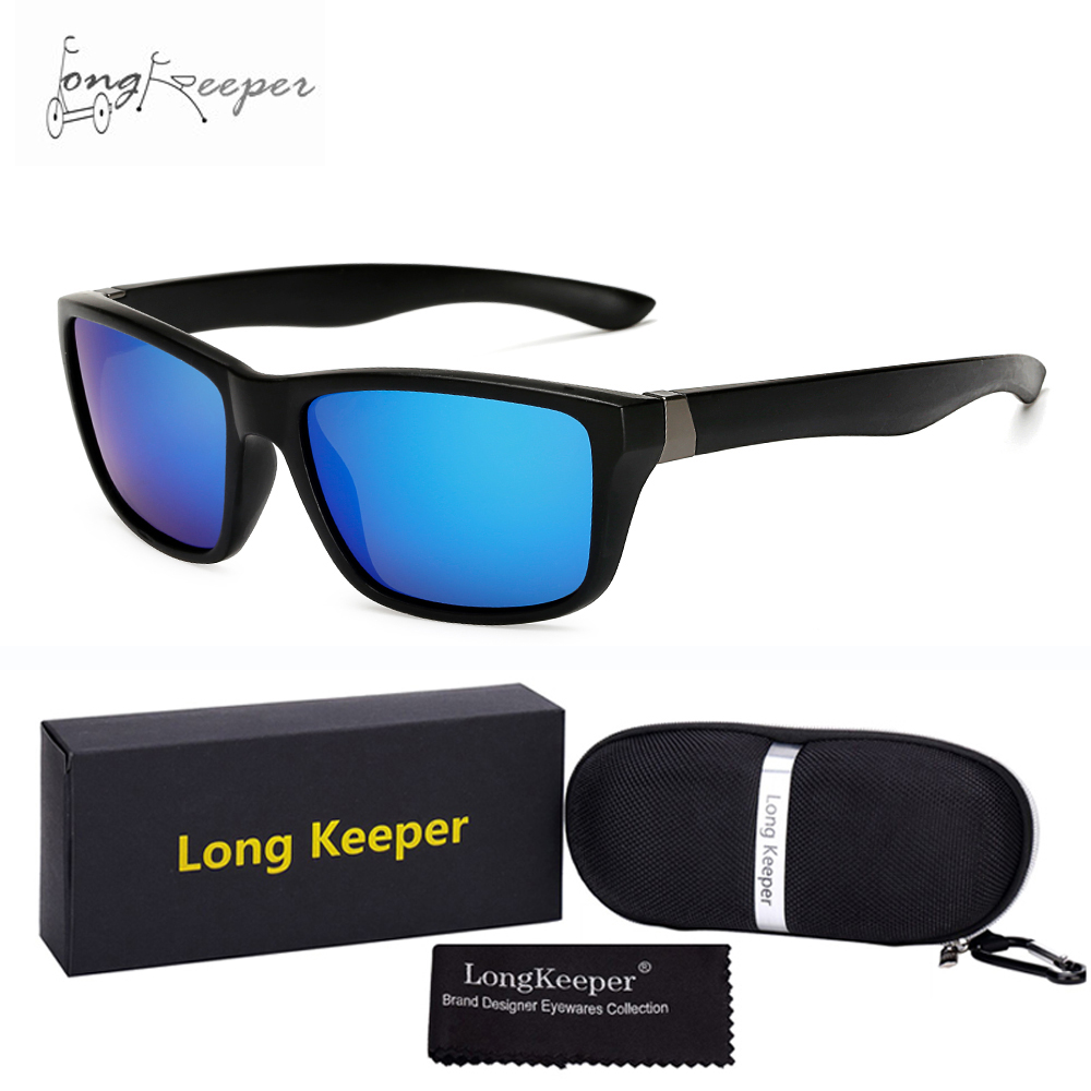 Long Keeper New Style Outdoor Sports Glasses Polarized Biking Fishing Travel Hiking Sun Glasses with Case and Gift Box