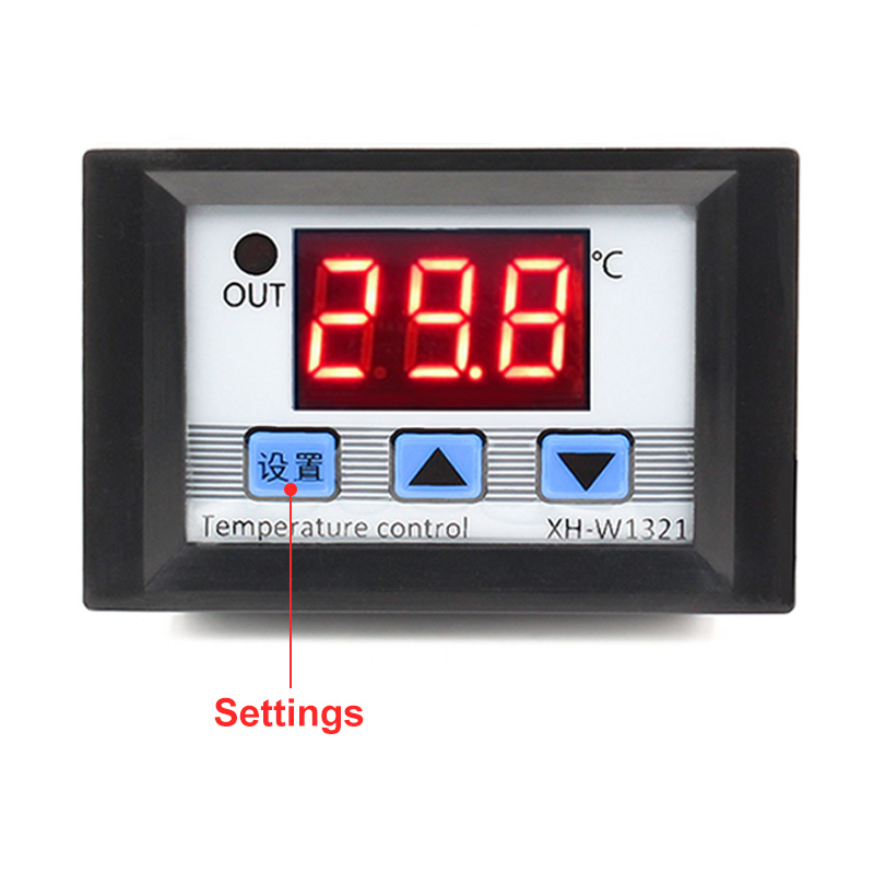 DC12V Digit LED Display Temperature Controller Thermostat Control Switch Probe A