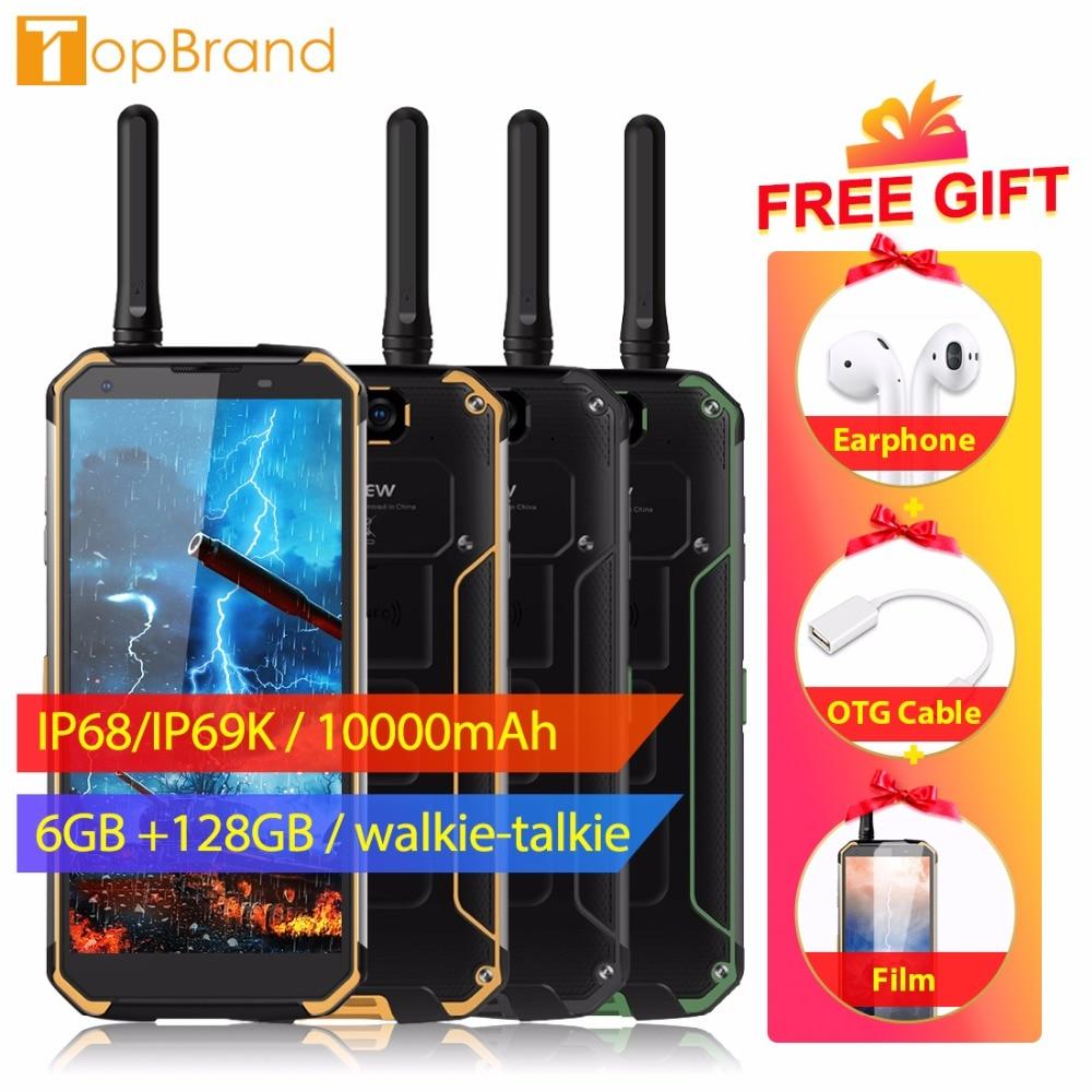 "Blackview BV9500 Pro Mobile Phone Android 8.1 Octa Core 5.7"" 18:9 MTK6763T 6GB RAM 128GB ROM IP68 Waterproof Smartphone NFC OTG"