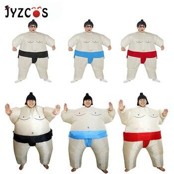 JYZCOS nadmuchiwane Sumo kostium zapaśnik cosplay Halloween kostiumy dla chłopców dziewczyny mężczyźni kobiety dorosłych dzieci Party karnawał kostium