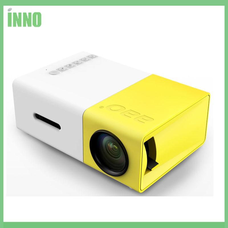 Y300 LED Tragbare Projektor 500LM 3,5mm 320x240 Pixel HDMI USB Mini Projektor Home Media Player