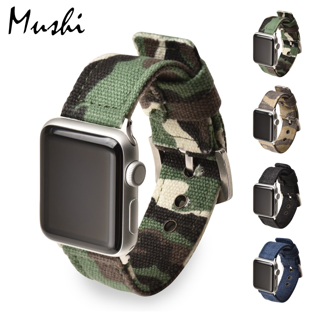 MS Watch Strap Camouflage Nylon Watch Bracelet For Apple Watch Band 42mm 38mm iWatch Watch Accessories For Apple Watch Strap survival nylon bracelet brown