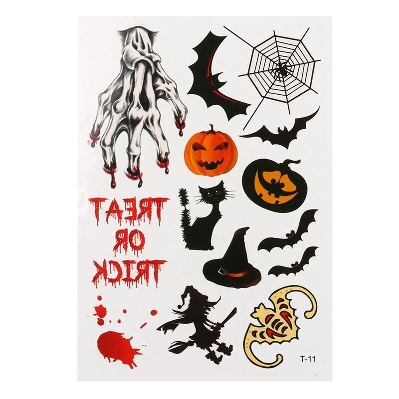 halloween tattoo stickers