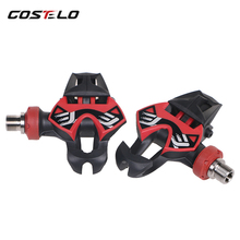 COSTELO Time Xpresso 12 Titan Carbon Pedals Road Bike Pedals Bicycle pedals Parts Titanium Ti Pedal lock card bicycle shoes