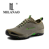 MILANAO New Brand Mesh Lightweight Trekking Shoes Men Women Quick Dry Hiking Walking Shoes