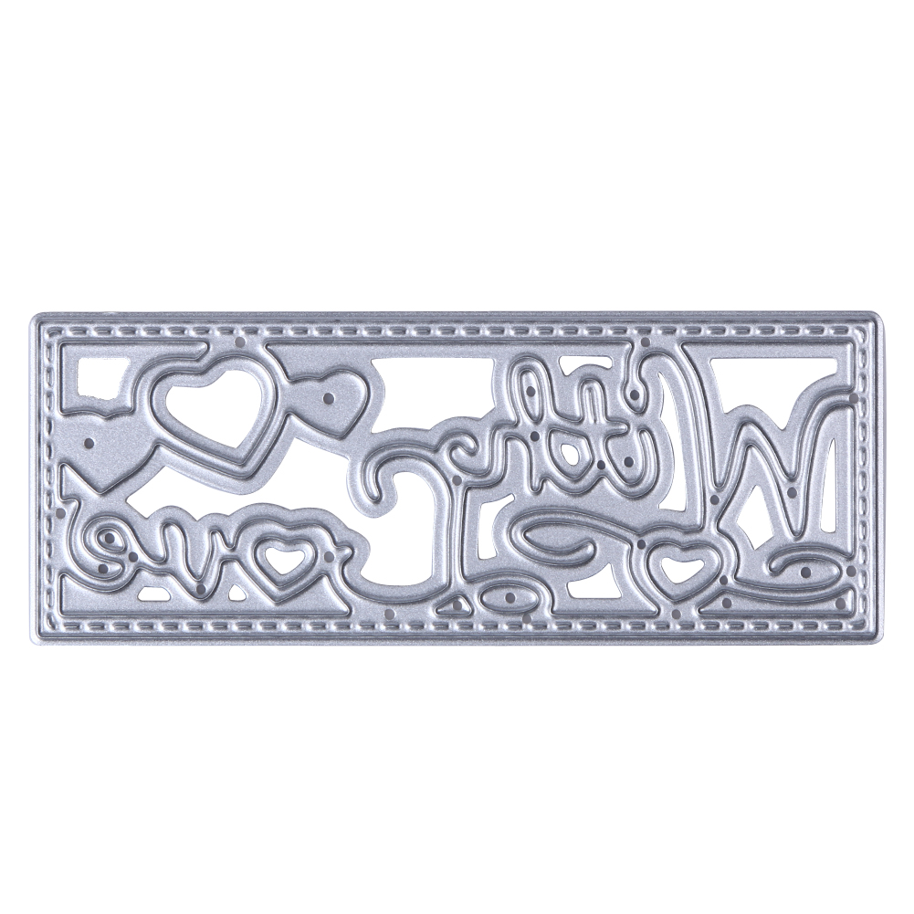 1pc steel scrapbooking letters love cutting dies stencils embossing diy photo album decorative metal craft drop