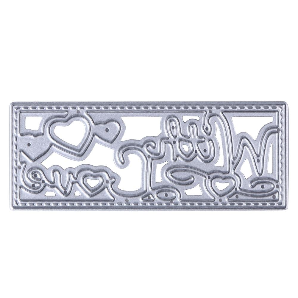 1pc steel scrapbooking letters love cutting dies stencils embossing diy photo album decorative metal craft drop