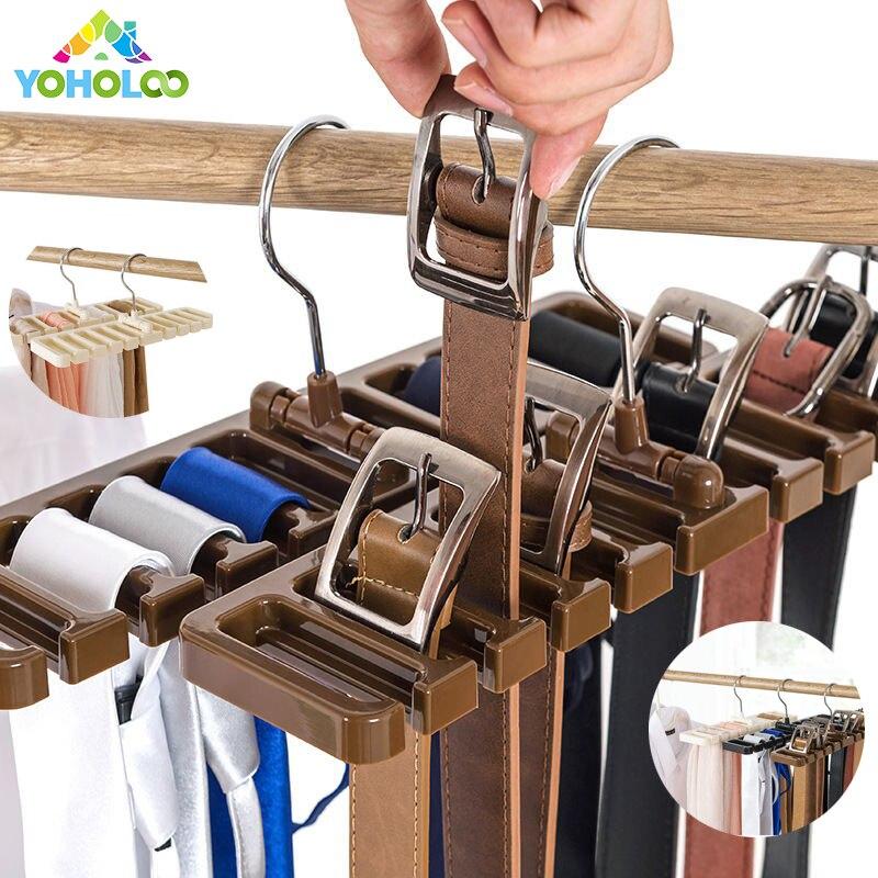 Gürtel Kleiderbügel Krawatte Organizer Schal Organizer Gürtel Hanger Space Saver Gürtel RackCloset Kleiderschrank mit Metall Haken Kunststoff Schal Aufhänger