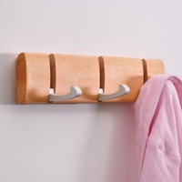 Creative pastoral wood retractable Home Storage Organization hook up Clothes hat wooden wall hook