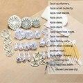 46 pcs Fondant ferramentas de decoração do bolo ferramenta de Cozimento para bolos Moldes do queque conjuntos de decoração do bolo de pastelaria ferramenta ferramentas de confeitaria