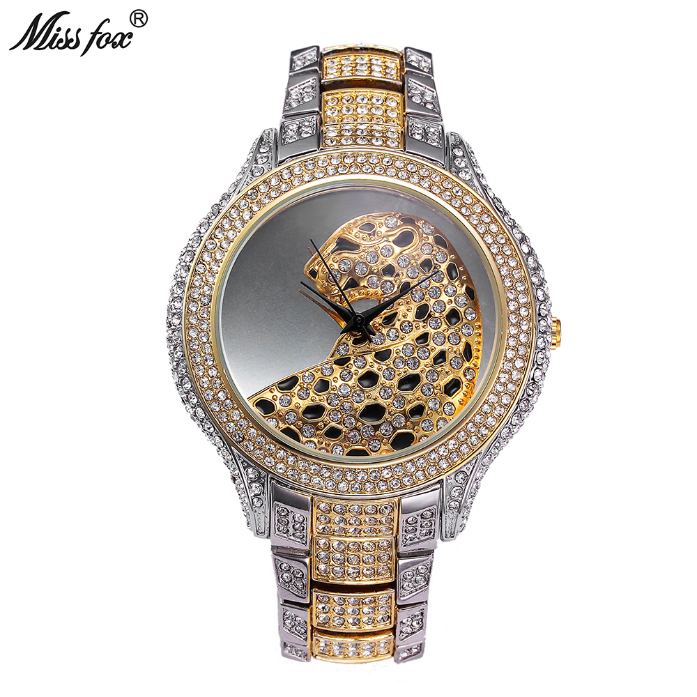 watch watches products tiger mystique love animal full photo rose diamond net pave