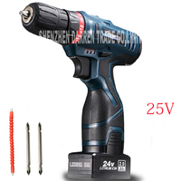 25V Lithium Battery Drill Hole Hand Wireless Cordless Electric Drill Bit Driver Charger Cordless Electric Screwdriver
