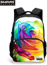 Preppy Style Children  Bagpack Cute Graffiti Flowers Printing School Backpacks For Teenager Girls Casaul Backpack For Students