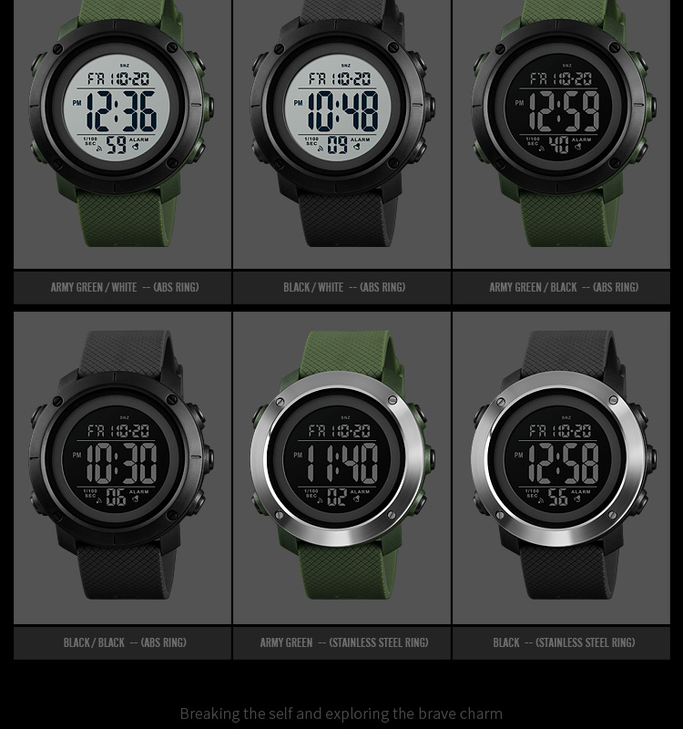 Top Luxury Digital Watch For Men (Waterproof, LED, Digital, Fashion)