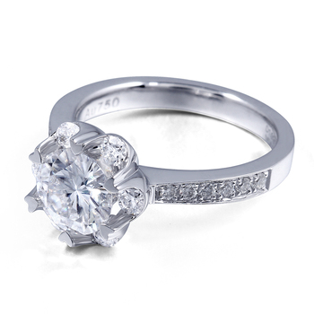 1.4 CTW Carat F Color Lab  Moissanite Diamond Engagement Ring  4