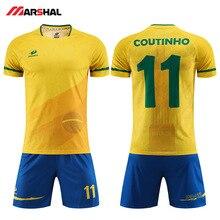 Sublimated Youth Custom Made Uniform Football Soccer Team  Jersey/uniform Design Camisa De Futebol Customized Kits