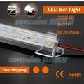 5pcs * 0.5m 2835/4014/5050/5630/6020/7020/8520 Led Hard strip rigid led Bar Light cabinet 12V 50cm U Aluminum profile cover