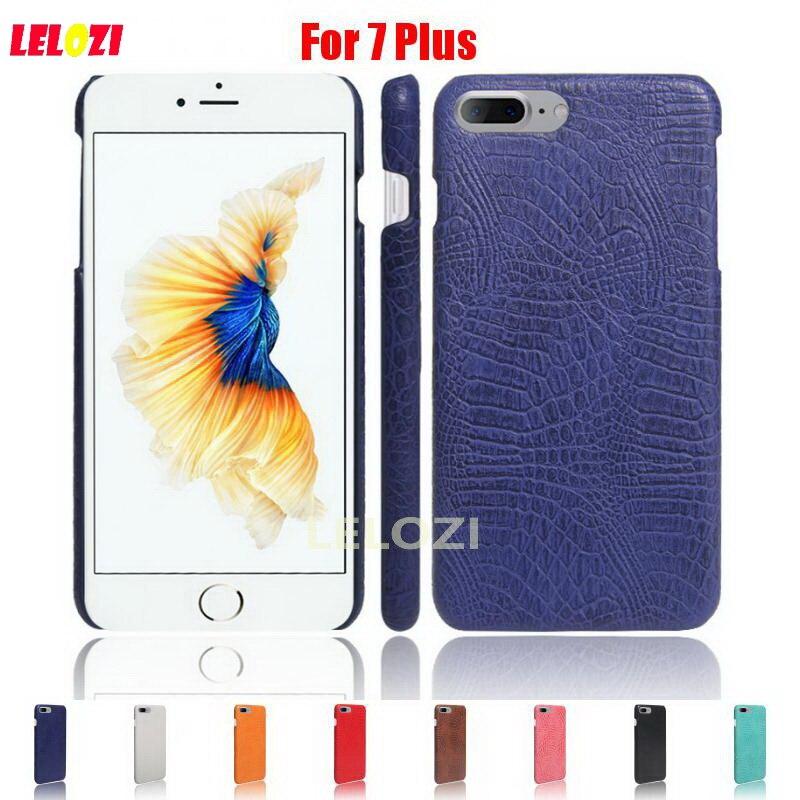 LELOZI Crocodile Snake Pattern Hard PC PU Leather Lather Leathe Phone Etui Coque Case For iPhone 7 Plus Best Blue Luxury Red