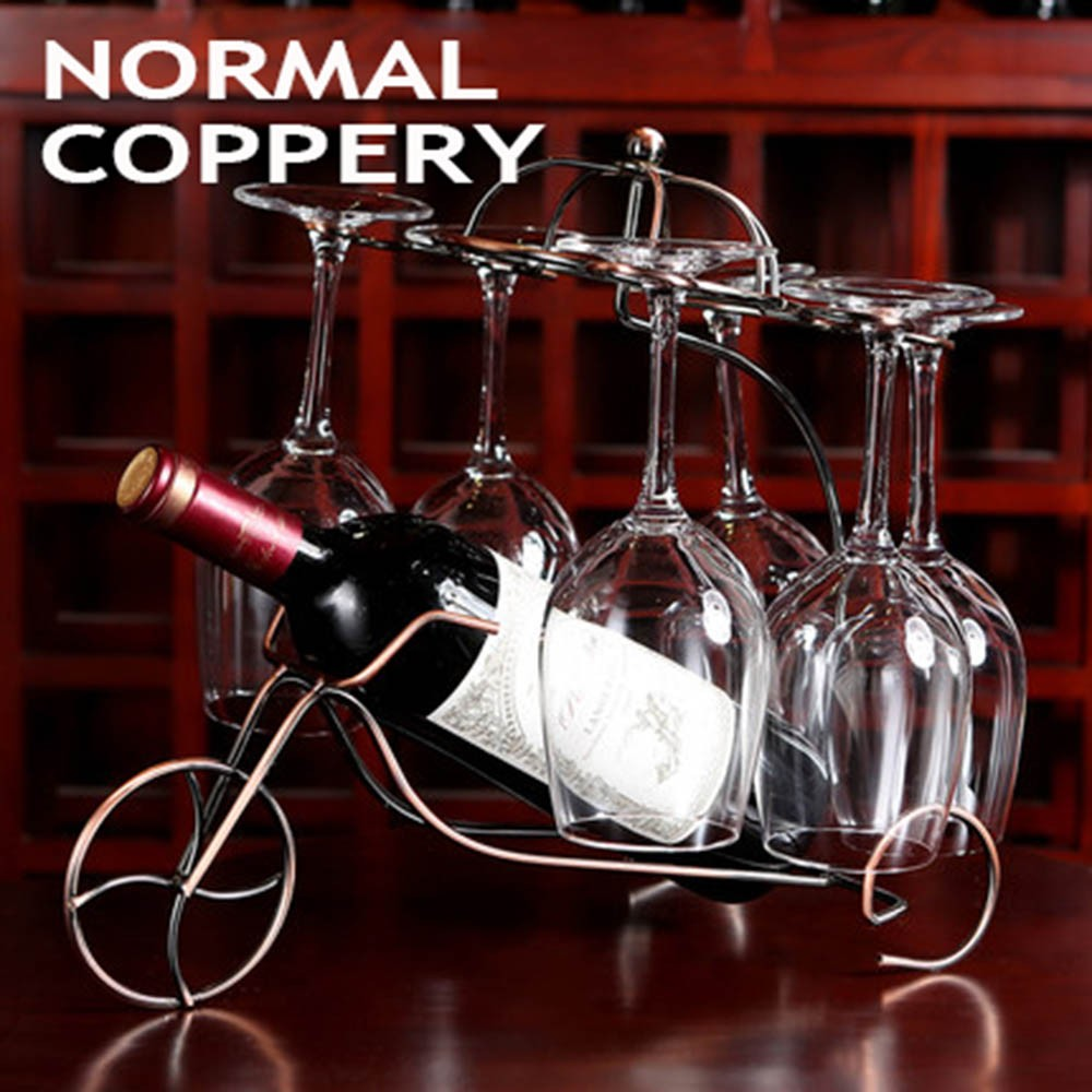 Decorative Racks Wine Bottle Holder Hanging Upside Down Cup Goblets Display Rack Iron Wine Stand Arts Design KC1283 (16)