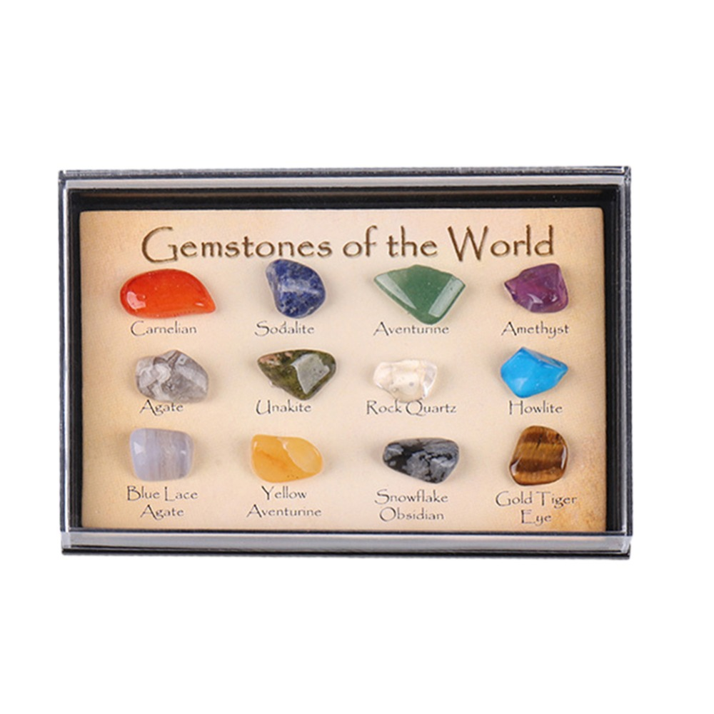 Hot Crystal Gemstone Polished Healing Natural Crystal Gemstone Color Stone Gift Stone Natural Stone Set Mascot Drop Shipping