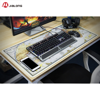 JIALONG 90 40cm Large World Map Gaming Mouse Pad Non Slip Rubber Pad Base Waterproof For