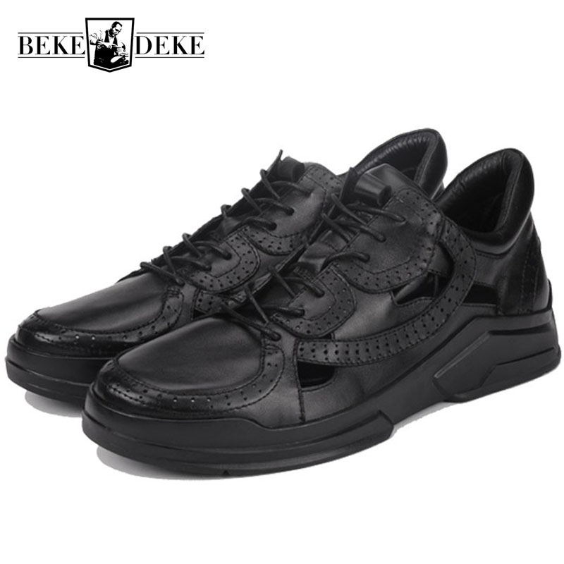 Designer Summer Man Sneakers Korean Hollow Out Genuine Leather Breathable Man Footwear Casual Lace Up Hipster Calzado Hombre Designer Summer Man Sneakers Korean Hollow Out Genuine Leather Breathable Man Footwear Casual Lace Up Hipster Calzado Hombre
