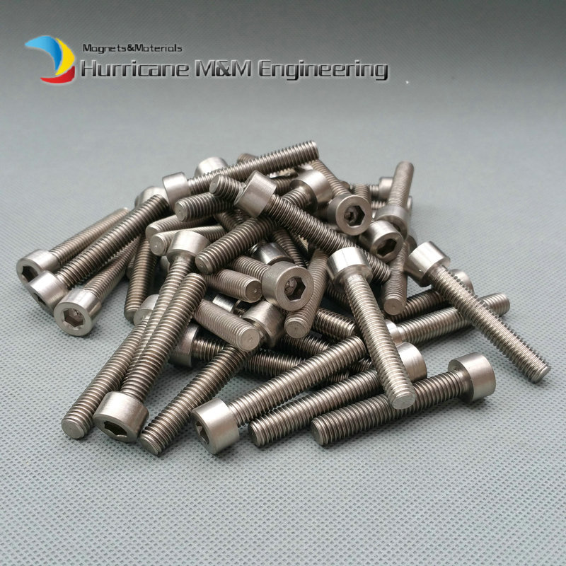 120 pcs M8 45 mm M8x45 mm Titanium Ti bolts Hexagon socket Column Head titanium screws Ti fasteners