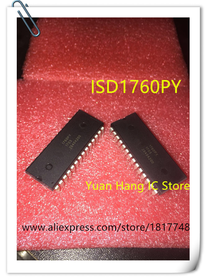 10PCS LOT ISD1760PY ISD1760 1760PY DIP28 Voice chip