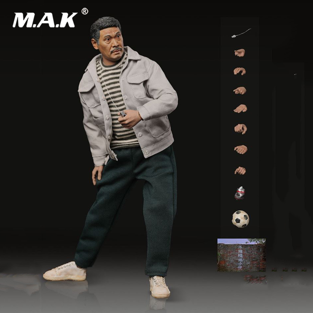Collectible 1/6 Scale Shaolin Soccer LT002 Gold Right Foot Wu Mengda Uncle Full Set Action Figure for Fans Gift