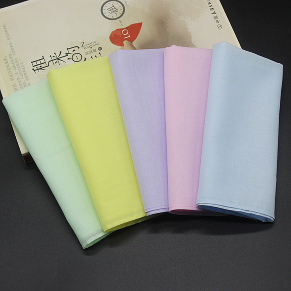 10pcs Pure 100% Cotton Handkerchiefs Pocket Hanky Hankies Kerchiefs For Wedding Eating Food Wiping Sweat Exercise