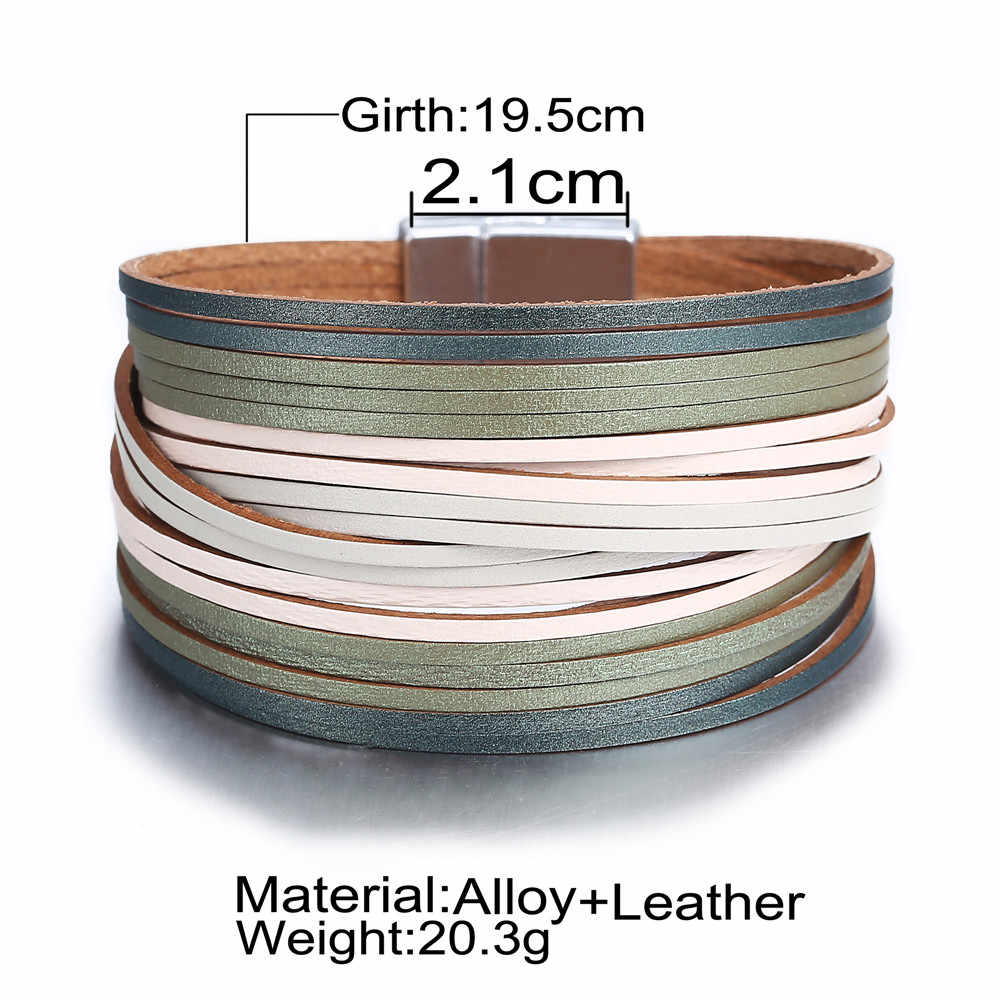 17KM 3 kolor moda skórzana bransoletka Wrap dla kobiet mężczyzn wielu warstw uroku bransoletki pary Pulsera Mujer podstawy biżuteria