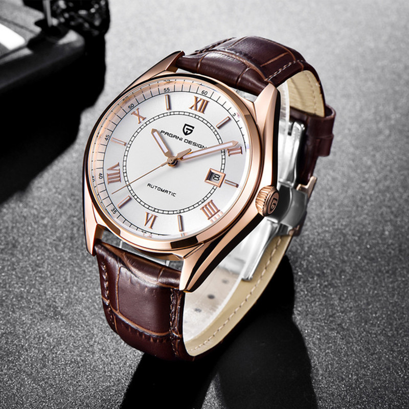 Mecánico automático de los hombres reloj 2018 Top marca PAGANI diseño de lujo reloj de moda impermeable reloj Masculino Relogio Masculino