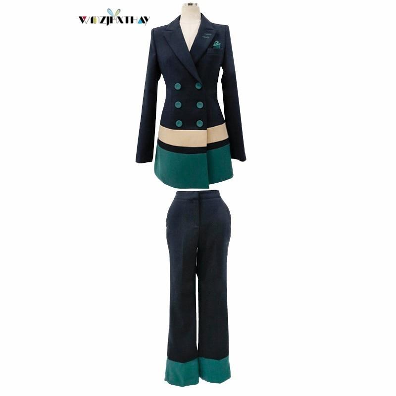 Beruf Anzug Zweireiher Herbst Winter Temperament Patchwork Farbe Blazer Feminino Lose Hosen Mode 2 Stücke Anzug SorgfäLtige FäRbeprozesse