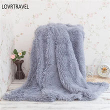 Blanket for Children Double-layer Shaggy Blanket Crystal Plush Throw Blankets Decorative Plaids on The Couch and Armchair Grey(China)