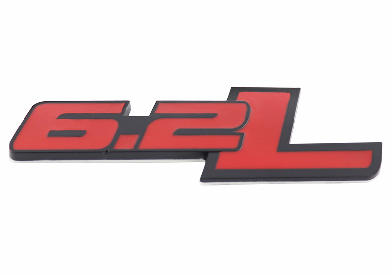 red outlining black Set of 2 Slant SS Grill Side Fender Trunk Emblem Badge Decal with Sticker for Chevy IMPALA COBALT Camaro 2010 2011 2012 2013 2014 2015 2016 2017