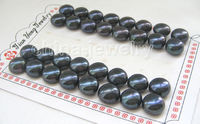 Hot Sell New Hot Sale Free Shipping 16PCS Wholesale 16pairs 12mm Natural Black Flat Round