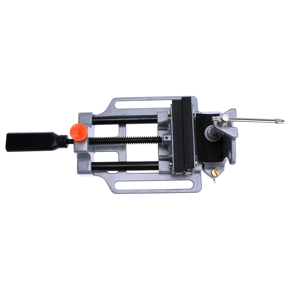 High Precision Aluminum Alloy Table Flat Bench Vise Drill Press Vise Small Vise for Wood Metal or Plastic