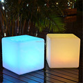 4pcs/lot outdoor waterproof 35CM GLOWING SEATING CUBE rechargeable luminous cube led bar chair barstools with remote control