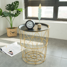Louis Fashion Coffee Tables Modern Nordic Iron Art Simple Living Room Sofa Side Bedroom Basket