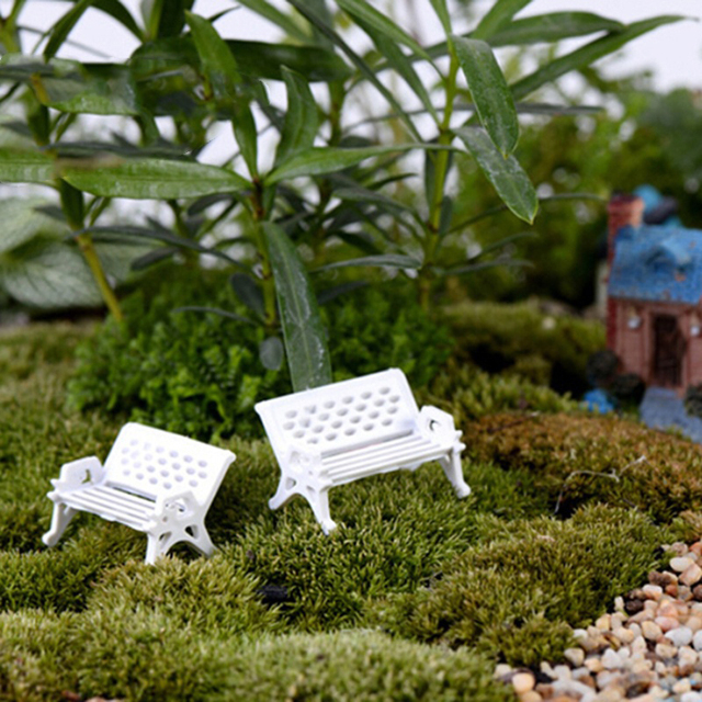 Marvelous Us 0 49 40 Off 1Pcs High Quality Mini White Plastic Park Seat Bench Garden Ornament Fairy Dollhouse Decor Wedding Party Decoration 3 Size In Party Unemploymentrelief Wooden Chair Designs For Living Room Unemploymentrelieforg