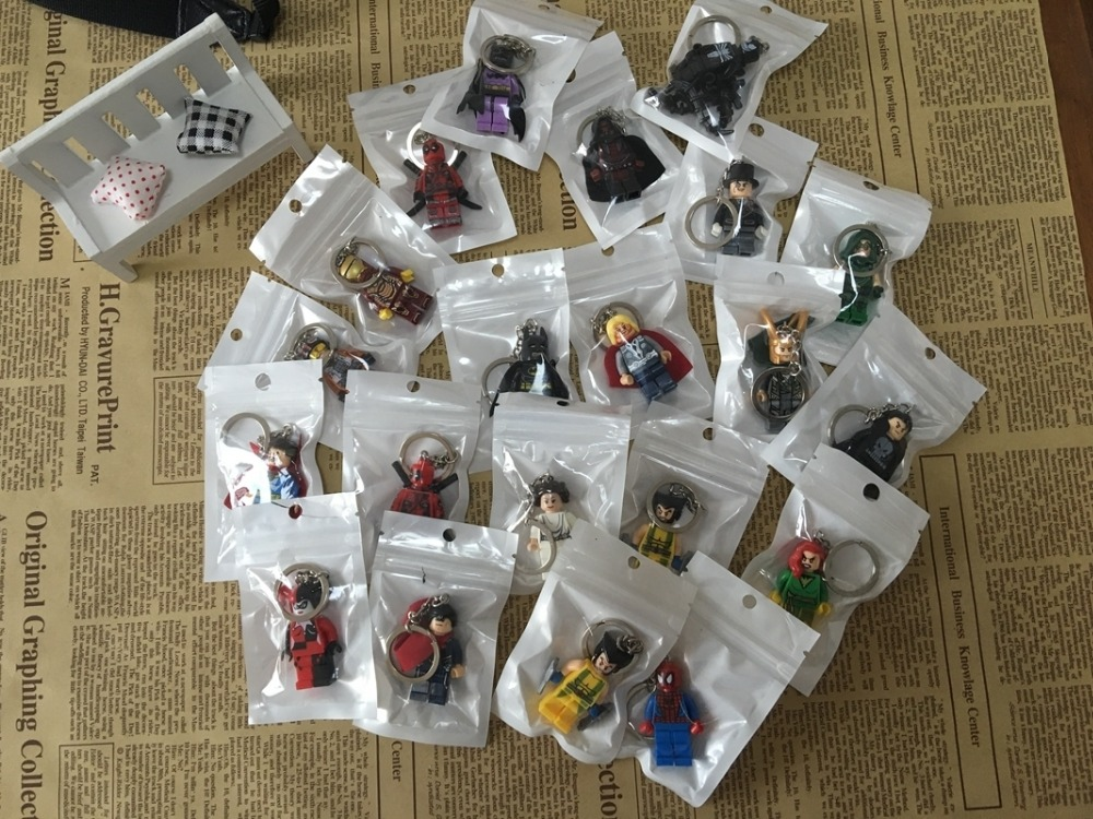 Marvel Avengers Captain America Civil War Urton Keychain Keyring Mini figure Set Super Hero Iron man Key Holder Kolye Ornament