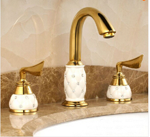 new arrival gold brass ceramic diamond hot and cold wash basin faucet basin mixer basin tap.luxury faucet. tap toilet bath mixer